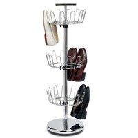 Chrome Revolving Shoe Tree, 3-TIER, CHROME
