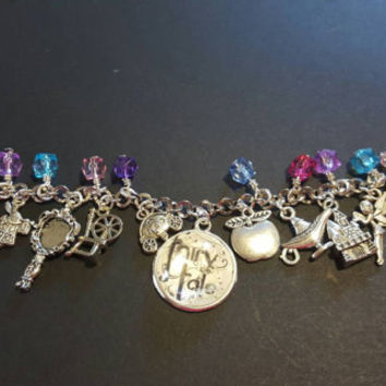 Fairy tale once upon a time charm bracelet