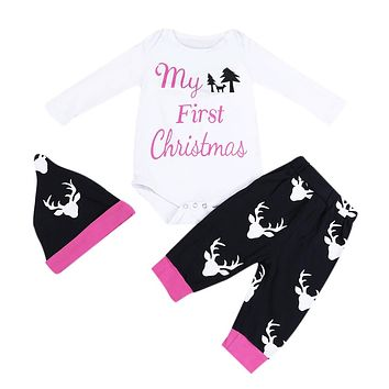 """My First Christmas 3PC Outfit"