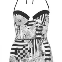 Black And White Spiro Swimsuit