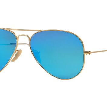 Ray-Ban 0RB3025 55 Matte Gold Men's Sunglasses