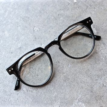 spitfire teddyboy in black + clear frame