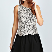 Abby Lace Tier Chiffon Skater Dress
