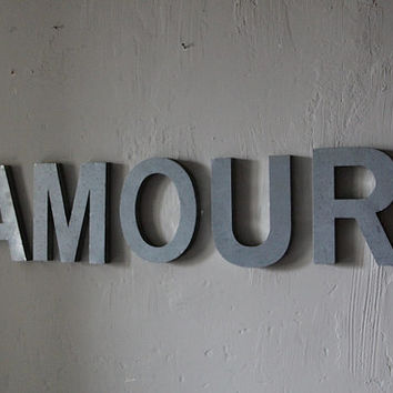 French Vintage Industrial Letters AMOUR Love