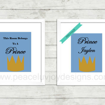 Boy Personalized Wall Art, Printable Duo, Customized Printable, Birthday Gift, Instant Download, Table Top, Custom Wall Art, Custom Nursery