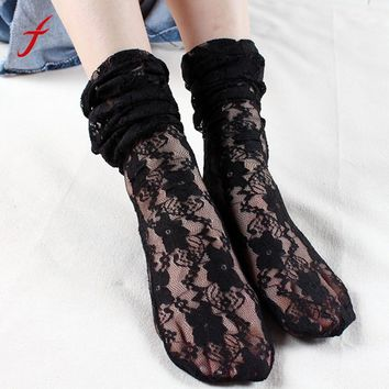 Women's Long Lace Socks Thin Transparent Thin Silk Socks women calcetines mujer unique style breathable meias gift for women