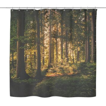 Deep Forrest Shower Curtains