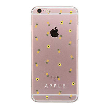 Pineapple Pattern BFF Clear Phone Case - Apple Right