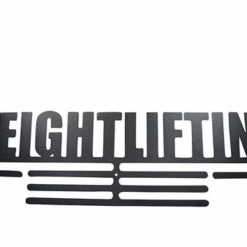 OFG Medal Hanger for Displaying and Hanging Ribbons on a Rack Out of Black Powder Coat Steel (Weightlifting, Black)