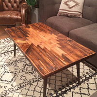 Navajo Aztec Native Mid-Century Coffee Table
