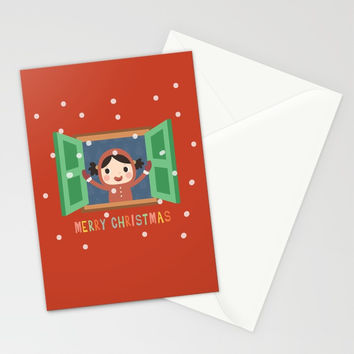Day 20/25 Advent - Christmas Morning Stationery Cards by lalainelim