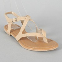 BH-38 Strappy Thong Flat Sandal