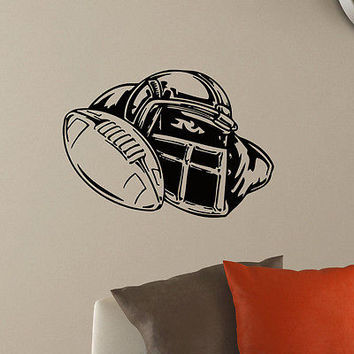 WALL DECAL VINYL STICKER GYM SPORT RUGBY AMERICAN FOOTBALL HELMET DECOR SB604