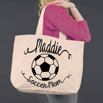 Soccer Mom | Personalized Canvas Tote Bag