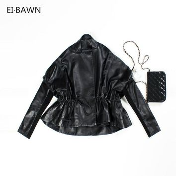 Leather Jacket 100% Sheepskin Coat Plus Size Genuine Leather Jacket Black Female Jackets Women Lady Leather Jacket