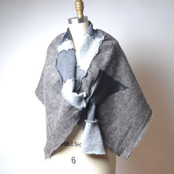 Gray Cashmere Shawl -  OOAK Cashmere Shawl - Women's Wrap Shawl - Scarf Shawl - Fashion Accessories