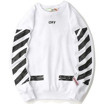 Off White  Women or Men Fashion Casual  Top Sweater