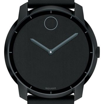 Men's Movado 'Bold' Silicone Bracelet Watch, 44mm - Black/ Grey (Regular Retail Price: $595.00)