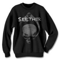 Official Seether Skull Clamp Crewneck | Apparel | Seether