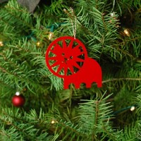 red lion ornament