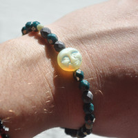 Dreams and Moonbeams Czech Glass Bead Bracelet with Clasp