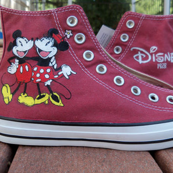 Custom Painted Classic Mickey and Minnie Disney Shoes