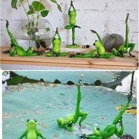 Yoga Frogs Figurine