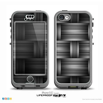 The Black & Gray Woven HD Pattern Skin for the iPhone 5c nüüd LifeProof Case