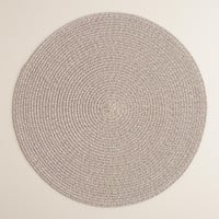 Gray Round Braided Placemats, Set of 4 - World Market
