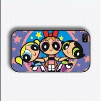 powerpuff girls 1 2 iphone case for 4 and 4s plastic black color