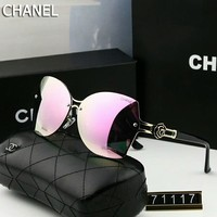 Chanel Fashion Ladies Men Elegant Summer Sun Shades Eyeglasses Glasses Sunglasses #1 Pink I-A-SDYJ