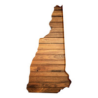 New Hampshire Faux Wooden wall decal