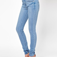 ASOS High Waist Skinny Jeans in Light Wash