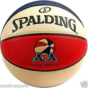 SPALDING OFFICIAL ABA GAME BALL FULL SIZE BASKETBALL