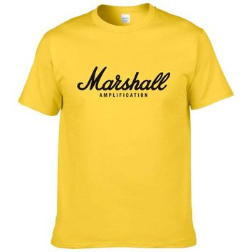 ca qiyif Cotton Marshall T-shirt Short Sleeve