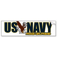 Proud Navy Girlfriend Bumper Sticker