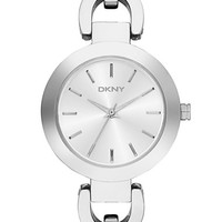 Women's DKNY 'Stanhope' Chain Link Bracelet Watch, 28mm - Silver
