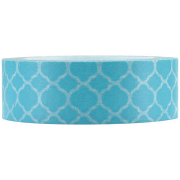 Sky Blue Moroccan Tile Paper Washi Tape, 15mm x 10m: Love My Tapes