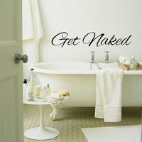 Get Naked Bathroom Decal