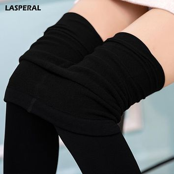 LASPERAL Women Sexy Pantyhose Spring Autumn Winter Warm Panty Hose Polyester Elastic Step Foot Seamless Tights Stockings Hosiery