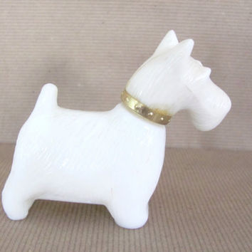 Vintage Scottie Dog, 1970's Avon Scottie Dog Perfume Figurine, Vintage Avon, Mid Century Decor