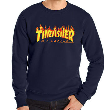 2016 new autumn winter funny hoodies sweatshit harajuku fashion thrasher sweatshirt hip hop fleece brand trasher men sweatshirts