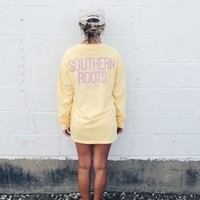 SR Custom Long Sleeve Tee - Butter