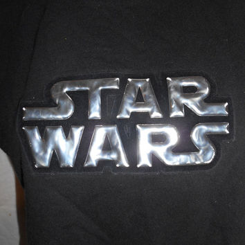 Vintage Clothing SALE Star Wars retro cut off reworked  half cropped shirt tee tshirt t-shirt tank top   black