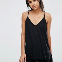 ASOS Longline Fancy Rib Cami at asos.com