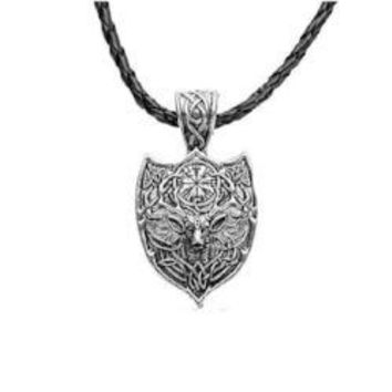 Nordic Dear Hunting Shield Necklace