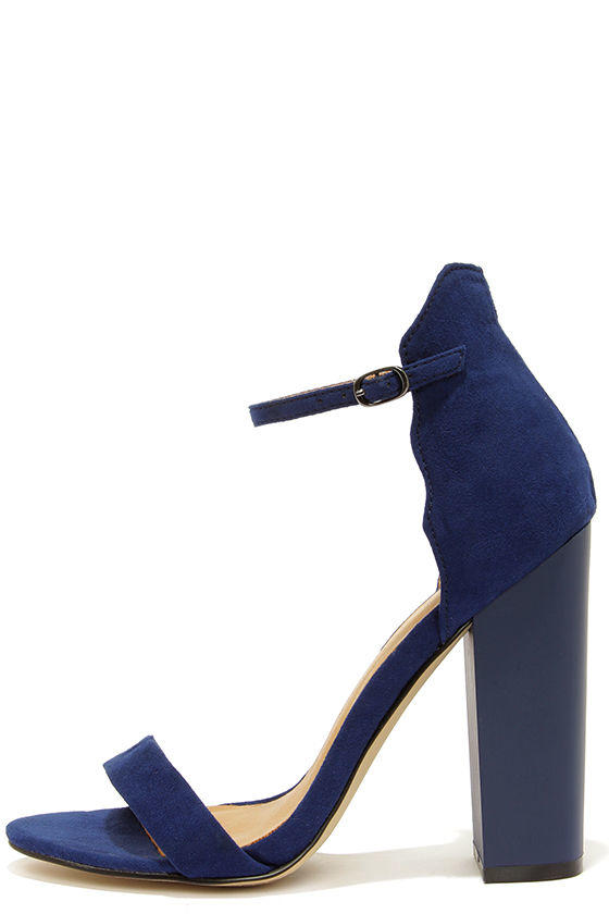 Chinese Laundry Sea Breeze Bright Navy Blue Ankle Strap Heels fe45e8484