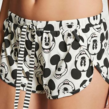 Mickey Mouse Print Shorts