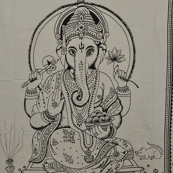 Indian God Lord Ganesha Hippie Tapestries Ganesh Tapestry Wall Hanging,Indian Tapestries Bohemian Tapestry Bad Cover Ganesha Wall sheet