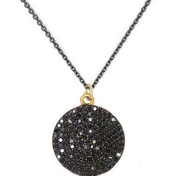 Once in a Blue Moon Black Diamond Necklace